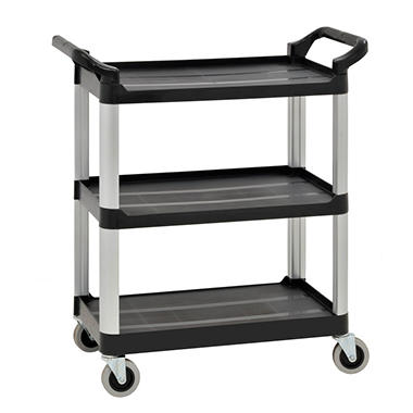 Sandusky 3-Level Heavy-Duty Utility Cart with Casters, 27
