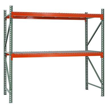 Sandusky 2 Level Steel Pallet Rack Starter Kit Green