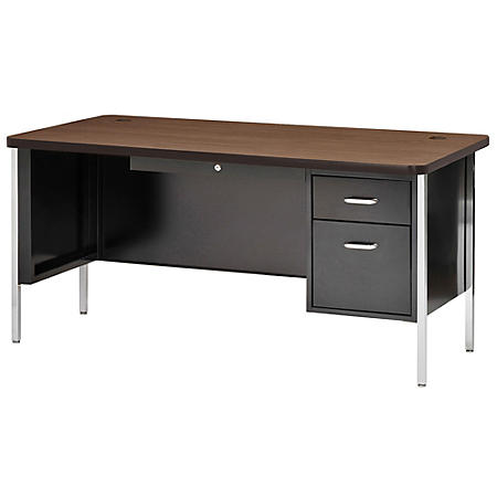 "600 Series 29.5""H x 60""W x 30""D Single Pedestal Steel Desk (Assorted Colors)"