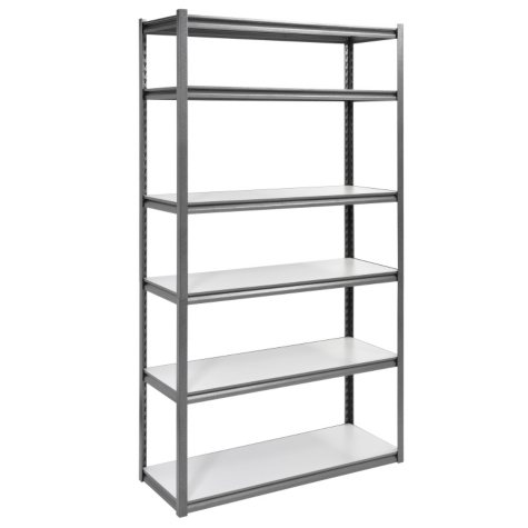 Muscle Rack 6-Level Heavy-Duty Steel Shelving Unit