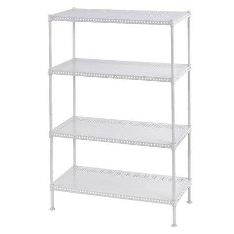 Heavy Duty Perforated 4-Shelf Wire Shelving