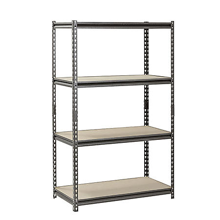 "Muscle Rack 4-Shelf Heavy-Duty Steel Shelving (36""W x 18""D x 60""H)"