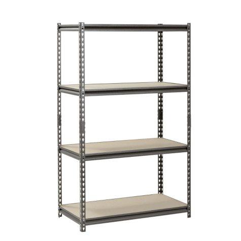 """Muscle Rack 4-Shelf Heavy-Duty Steel Shelving (36""""W x 18""""D x 60""""H)"""