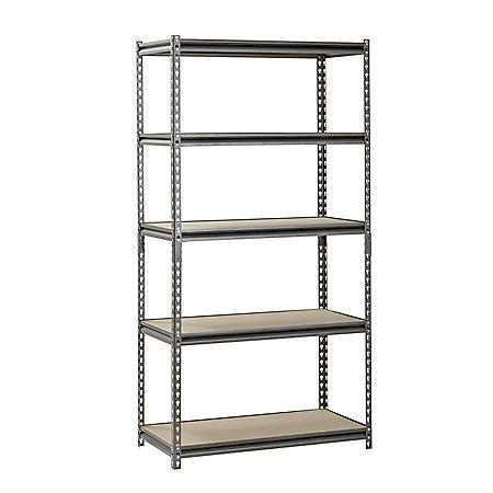 "Muscle Rack 5-Shelf Heavy-Duty Steel Shelving (36""W x 18""D x 72""H)"