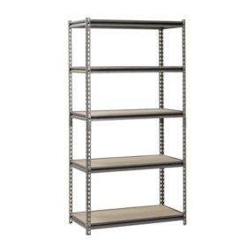 muscle rack 5 shelf heavy duty steel shelving 36w x 18 - Heavy Duty Bookshelves