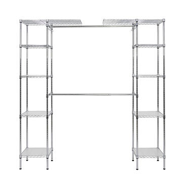 Muscle Rack Expandable Closet/Room Organizer (Chrome)