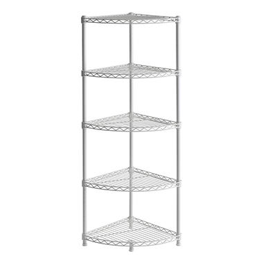 Muscle Rack 5-Shelf Steel Wire Corner Shelving Unit
