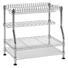 Muscle Rack 3-Tier Wire Dish Rack (Chrome)