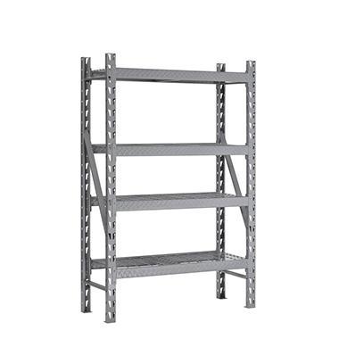 Muscle Rack Heavy Duty 4 Level Welded Steel Treadplate Rack with Wire  Shelves. Muscle Rack Heavy Duty 4 Level Welded Steel Treadplate Rack with
