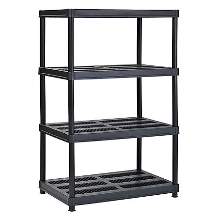 "Muscle Rack 4-Level Resin Shelving - Black (36"" x 24"" x 56"")"