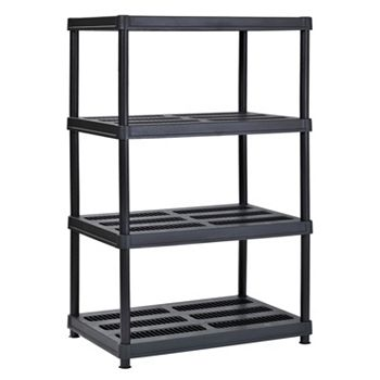 Muscle Rack 4-Level Resin Shelving Black (36