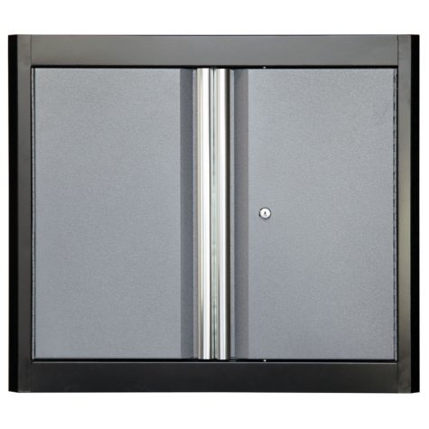 "American Heritage 26""H x 30""W x 12""D Steel Garage Welded Wall Cabinet (Black/Multi-Granite)"