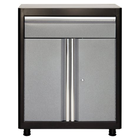 "American Heritage 36""H x 30""W x 18""D Steel Base Cabinet with Drawer (Black/Multi-Granite)"