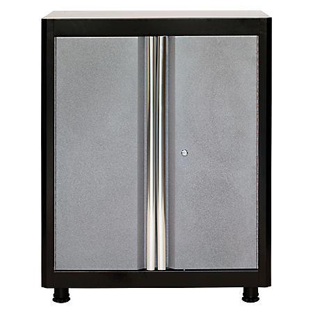 "American Heritage 36""H x 30""W x 18""D Steel Base Cabinet (Black/Multi-Granite)"