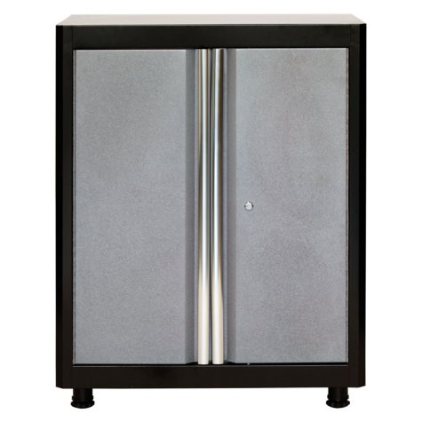 "American Heritage 36""H x 30""W x 18""D Steel Base Cabinet (Black/Multi-Granite)"