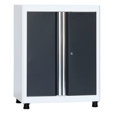 """American Heritage 36""""H x 30""""W x 18""""D Steel Base Cabinet (White/Charcoal)"""