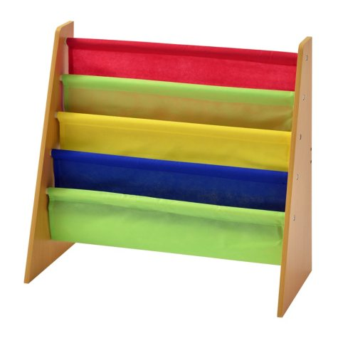 Muscle Rack Freestanding Kids Book Rack (Natural/Multi-Color)