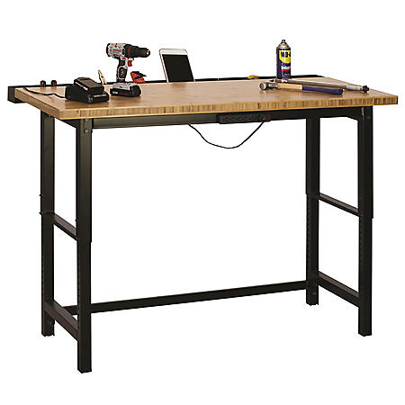 Muscle Rack 5-ft. Bamboo Top Workbench