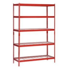 Muscle Rack 5 Shelf Steel Shelving Unit 48 Width X 72 Height