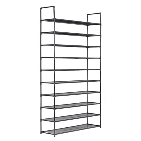 Muscle Rack 10-Level Shoe Rack (Black)