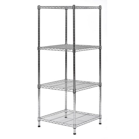 "Muscle Rack 4-Level Wire Shelving Unit (18""W x 18""D x 47""H)"