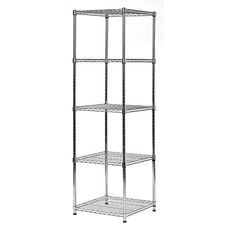 """Muscle Rack 5-Level Wire Shelving Unit (18""""W x 18""""D x 59""""H)"""