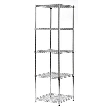 Wire Shelving Units | Muscle Rack 5 Level Wire Shelving Unit 18 W X 18 D X 59 H Sam S Club