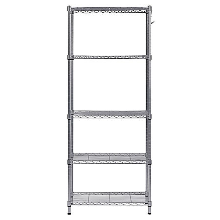 Muscle Rack 5-Shelf Wire Commercial Shelving Unit (59 in. H x 24 in. W x 14 in. D)