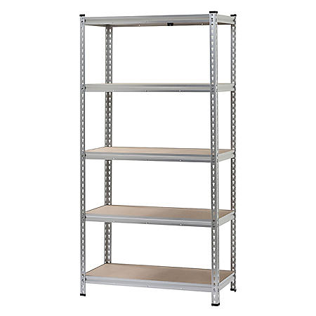 Muscle Rack 5-Shelf Boltless Aluminum Shelving Unit (72 in. H x 36 in. W x 18 in. D)