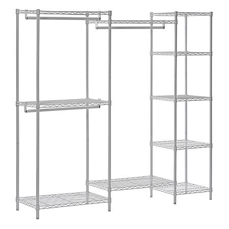 Muscle Rack Wire Steel Closet System Organizer (White)