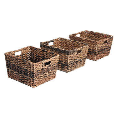 Beau Seville Classics Decorative Woven Storage Baskets (Set Of 3)
