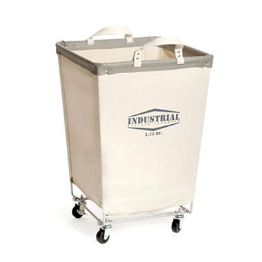 Seville Classics Commercial Heavy-Duty Canvas Laundry Hamper