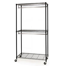 Seville Classics Closet/Room Garment Rack with Zippered Cover