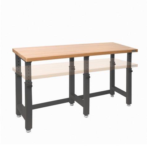 "UltraHD 72"" Adjustable Height Heavy-Duty Wood Top Workbench"