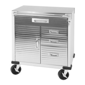 Seville Classics UltraHD Rolling Cabinet w/ Stainless ...