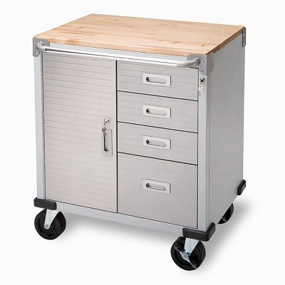 Seville Classics UltraHD Rolling 4-Drawer Storage Cabinet with Key Lock  sc 1 st  Samu0027s Club & Garage Cabinets - Samu0027s Club
