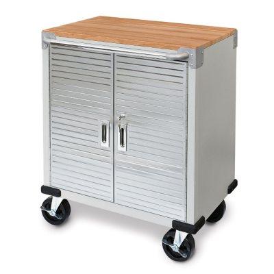 Seville Classics UltraHD 2 Door Rolling Cabinet