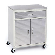 Seville Classics UltraHD One Drawer Cabinet Stainless Steel Top