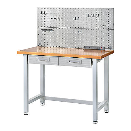 Seville Classics UltraHD Stainless Steel Pegboard Workcenter