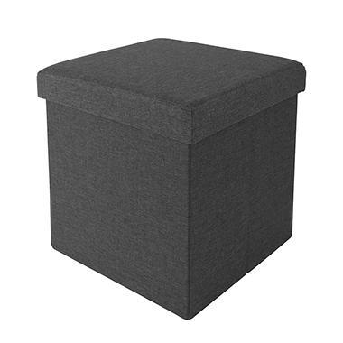 Lovely Seville Classics Foldable Storage Cube/Ottoman