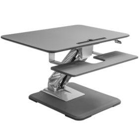 Seville Clics Airlift Pneumatic Sit To Stand Adjule Single Column Riser Desk Converter