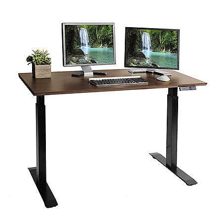 Seville Classics AIRLIFT® Electric Height Adjustable Standing Desk with USB Charger
