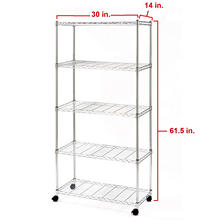 "Seville Classics 5-Level UltraZinc Shelving (30"" x 14"" x 60"")"