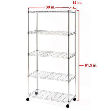 Seville Classics 5-Level UltraZinc Shelving (30