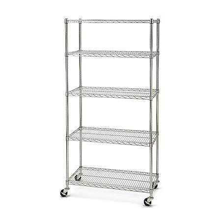 "Seville Classics 5-Level UltraZinc Commercial Shelving (18"" x 36"" x 72""H)"