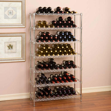 Seville Classics 168 Bottle UltraZinc 7-Level Wine Rack (14