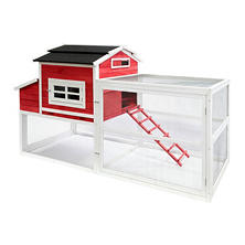 SummerHawk Ranch Vintage Red Barn XL Chicken Coop