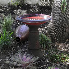 "Florentine Marbleized 20"" Diameter Bird Bath, Assorted Colors"