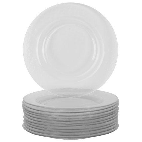 "10 Strawberry Street Hammered Glass 8.25"" Salad Plates, Set of 12"