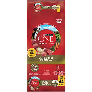 Purina ONE SmartBlend Lamb and Rice Formula Adult Premium Dog Food (44 lbs.)